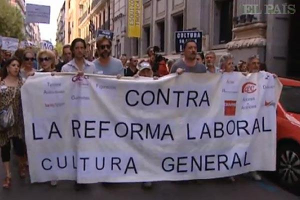 Exemple d'une manifestation en Espagne