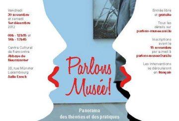 Parlons musée ! Panorama des théories et des pratiques … compte-rendu