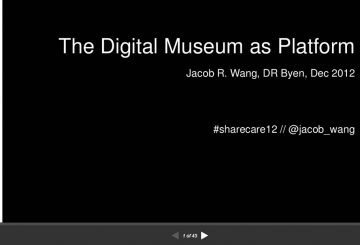 The Digital Museum as plateform