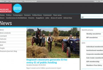 {PRESS} England's museums generate £3 for every £1 of public funding